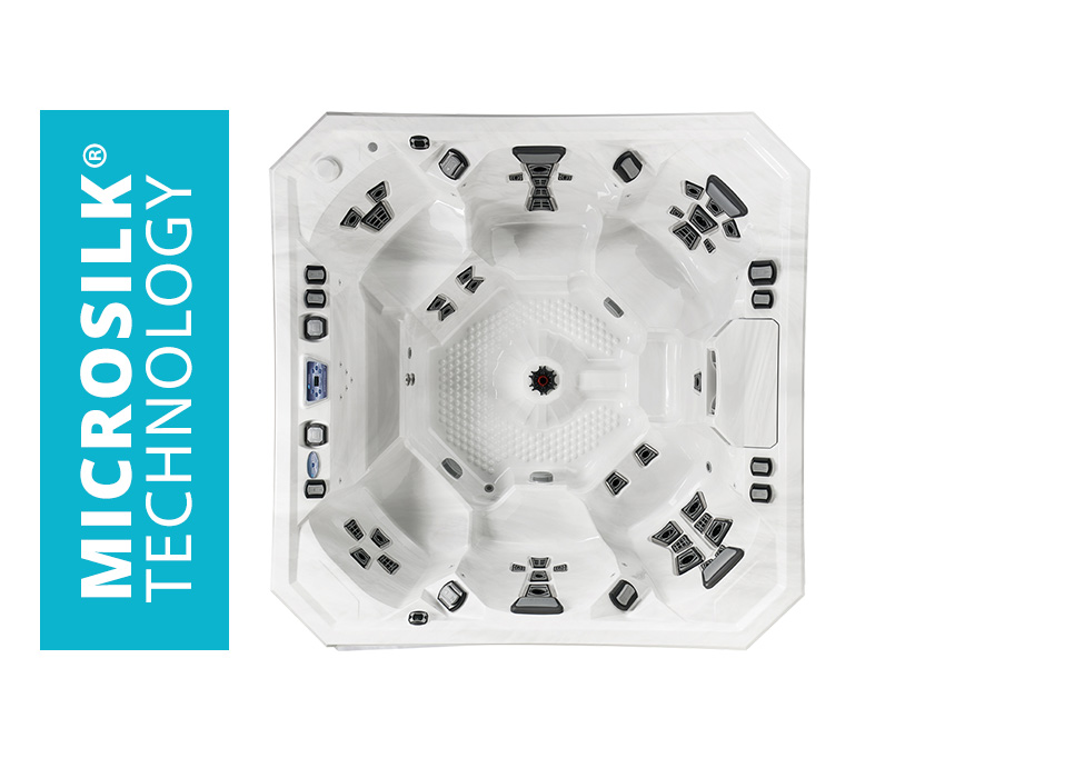 Pool and Spa Superstore Marquis V94 hot tub with Microsilk Technology