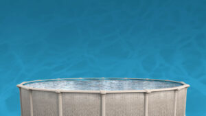 Above Ground Pools on water background | Pool and Spa Superstore Inc.