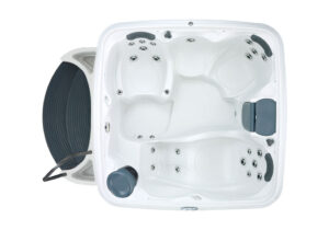 DreamMaker spas Cabana Collection 2500S overhead view | Pool and Spa Superstore Inc.