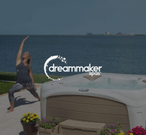 DreamMaker Spa logo with woman doing tai chi | Pool and Spa Superstore