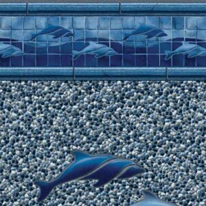 In-ground vinyl pool liner style: Dolphin Island | Pool and Spa Superstore Inc.