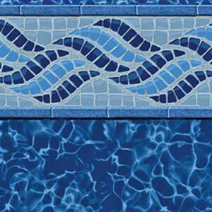 Summerwave / Deep Blue Fusion | Latham vinyl in-ground pool liner | Pool and Spa Superstore Inc.