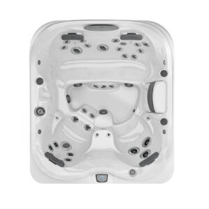 Jacuzzi J-425 Compact Designer with Open Seating Hot Tub with overhead   Pool and Spa Superstore Inc.