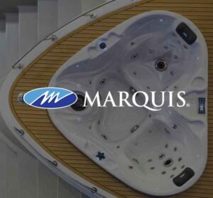 Marquis Spa installed on a boat bow | Pool and Spa Superstore Inc.