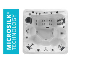 Marquis Spas Elite The Hollywood Elite Hot Tub overhead | Pool and Spa Superstore Inc.