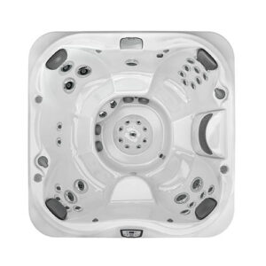 Jacuzzi J-345 Comfort Hot Tub with Open Seating overhead | Pool and Spa Superstore Inc.