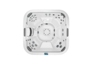 Jacuzzi J-585 hot tub overhead view | Pool and Spa Superstore Inc.