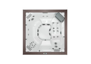 Jacuzzi J-LXL hot tub overhead view | Pool and Spa Superstore Inc.