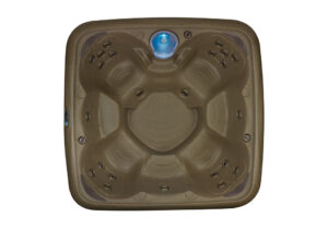DreamMaker spas Stonehenge Collection Big EZ overhead view | Pool and Spa Superstore Inc.