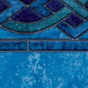 Above ground vinyl pool liner style: Solona Blue Marble | Pool and Spa Superstore Inc.