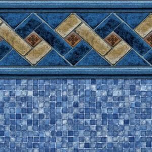 Mountain Top / Blue Mosaic | Latham vinyl in-ground pool liner | Pool and Spa Superstore Inc.